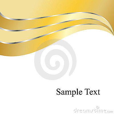 Vector Gold Swirls Background