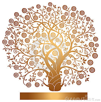 Free Vector Gold Tree Stock Photo - 19549270