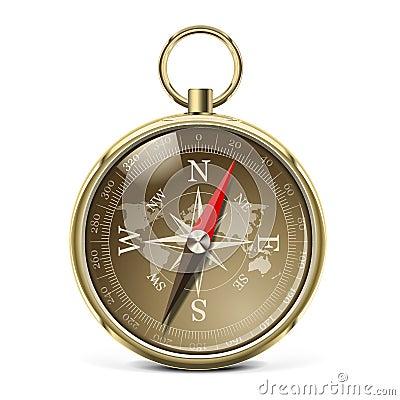 Vector Golden Compass
