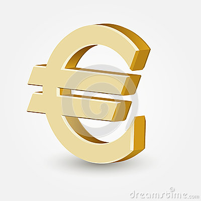 Vector golden euro sign