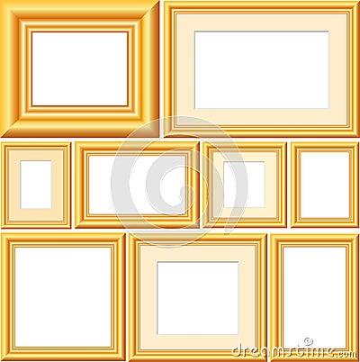 Vector golden frames