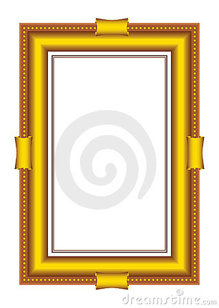 Vector golden frames baguette