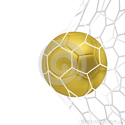 Free Vector Golden Realistic Soccer Ball Or Football Ball In Neton White Background. 3d Style Vector Ball. Royalty Free Stock Images - 101585139