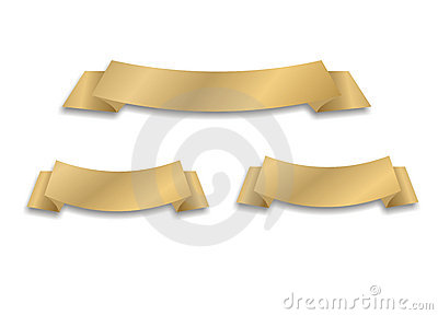 Vector golden ribbon