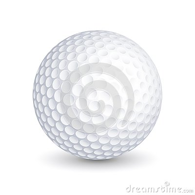 Free Vector Golf Ball On White Background Royalty Free Stock Image - 139369606