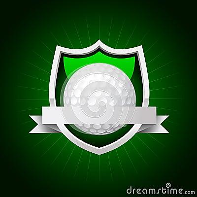 Vector golf emblem