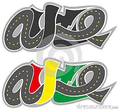 Vector graffiti road auto logo