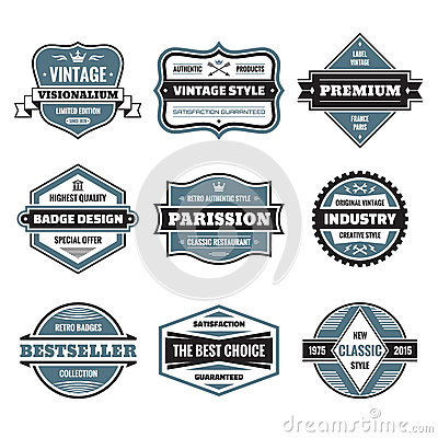 Free Vector Graphic Badges Collection. Original Vintage Badges. Royalty Free Stock Images - 48325359