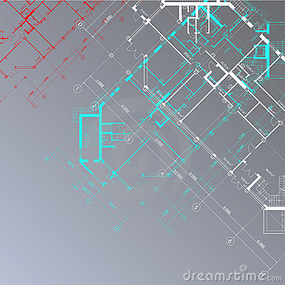 Vector gray architectural background
