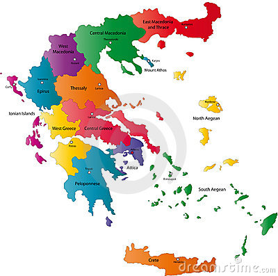 Vector Greece map