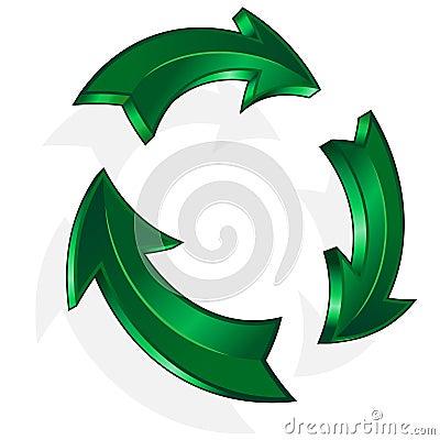 Vector green arrow