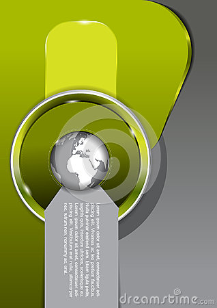 Vector green background with globe