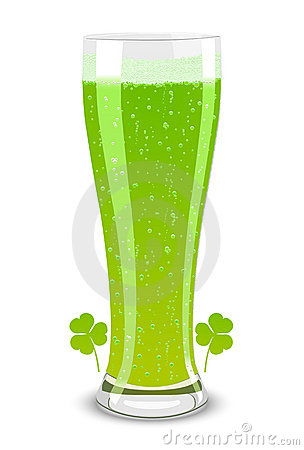 Vector green beer for St. Patricks Day