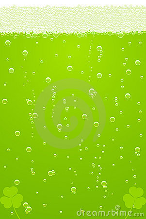Free Vector Green Beer Texture For St. Patricks Day Royalty Free Stock Photo - 18726415