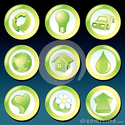 Vector Green Eco Icons