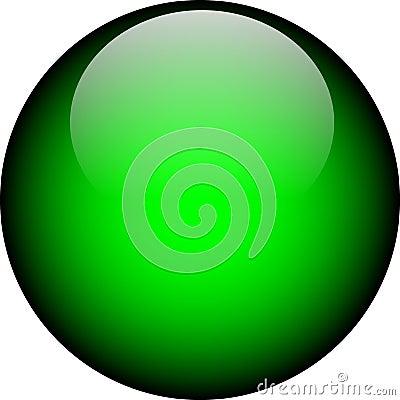 Free Vector Green Glass Button Stock Photo - 2723480