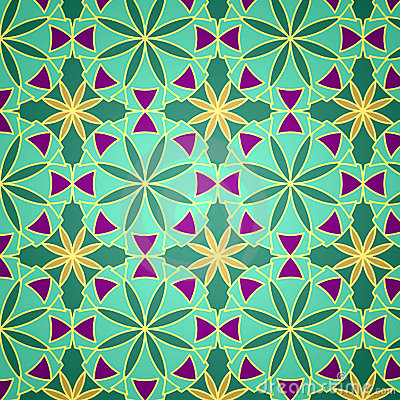 Free Vector Green Seamless Pattern Stock Image - 16352151