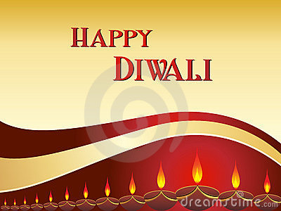 Vector greeting card for diwali