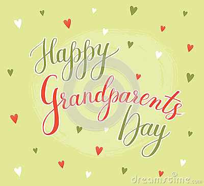 Vector greeting card happy grandparent day cartoon vector vector greeting card happy grandparent day cartoon vector m4hsunfo