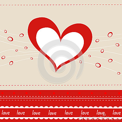 Vector greeting card with heart