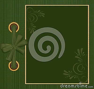 Vector greeting green album for photos
