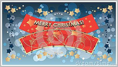 Vector greetings Template Merry Christmas