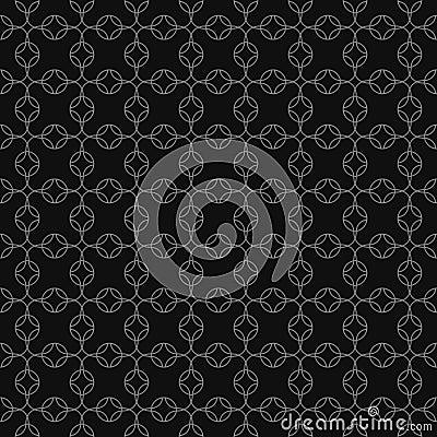 Vector grey geometric seamless pattern