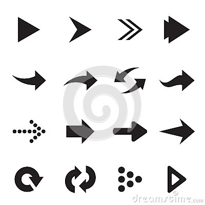 Vector group of arrow Vector Illustration