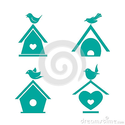 Free Vector Group Of Bird Houses Stock Images - 58406734