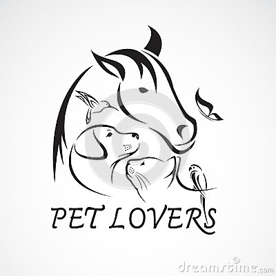 Free Vector Group Of Pets - Horse, Dog, Cat, Bird, Butterfly, Rabbit Royalty Free Stock Image - 108201246