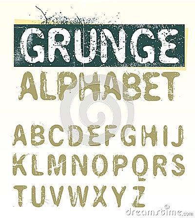 Vector Grunge Alphabet