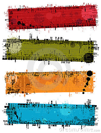 Vector grunge banners