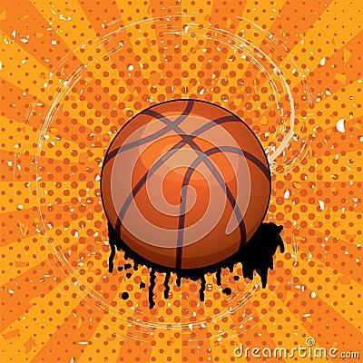 vector grunge basket ball