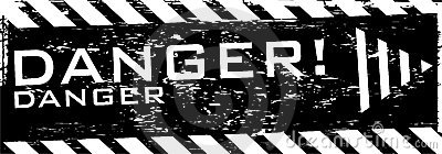 Vector grunge danger banner