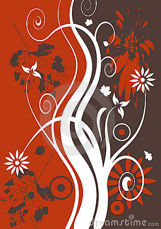 Free Vector Grunge Floral Design Stock Photography - 2480032
