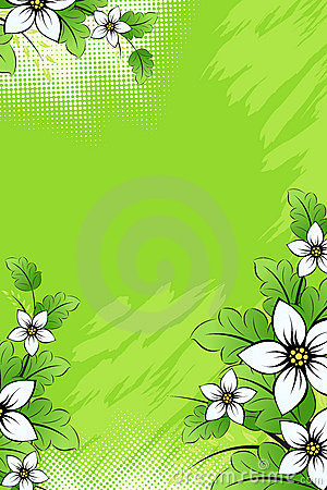Vector grunge flower background