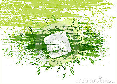 Vector grunge green background