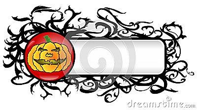 Vector Grunge Halloween Banner