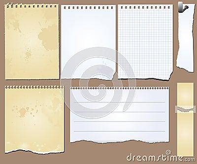 Vector grunge scrapbook elements tablet paper
