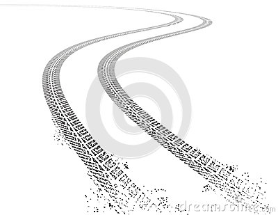 Vector grunge Tire tracks Vector Illustration