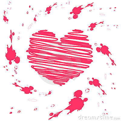 Vector grunge valentine card