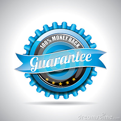 Vector  Guarantee Labels Illustration with shiny styled design on a clear background. EPS 10.