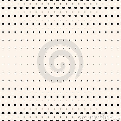Vector halftone geometric seamless pattern with small diamond shapes, rhombuses Vector Illustration