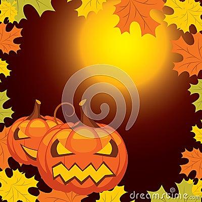 Vector Halloween banner
