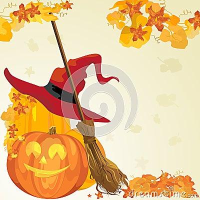 Vector Halloween grens