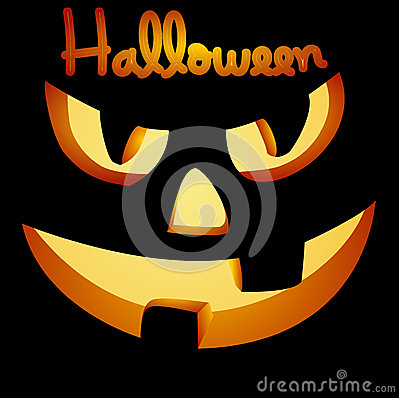 Vector halloween pumpkin face
