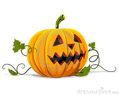 Vector halloween pumpkin vegetable fruit isolated