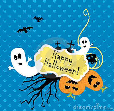Vector Halloween scrapbooking card