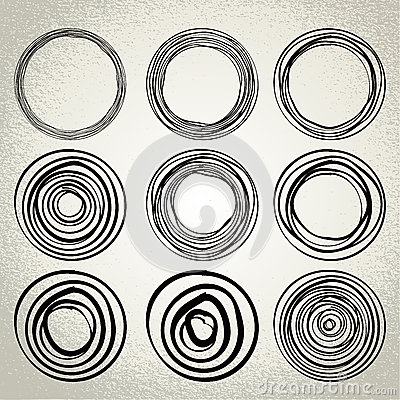 Free Vector : Hand Drawn Circles, Design Elements Stock Photography - 40369012