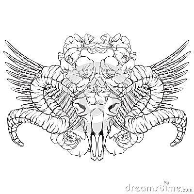 Vector hand drawn illustration. Vector Illustration